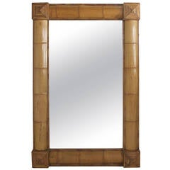 Large Tropical  Bamboo Mirror