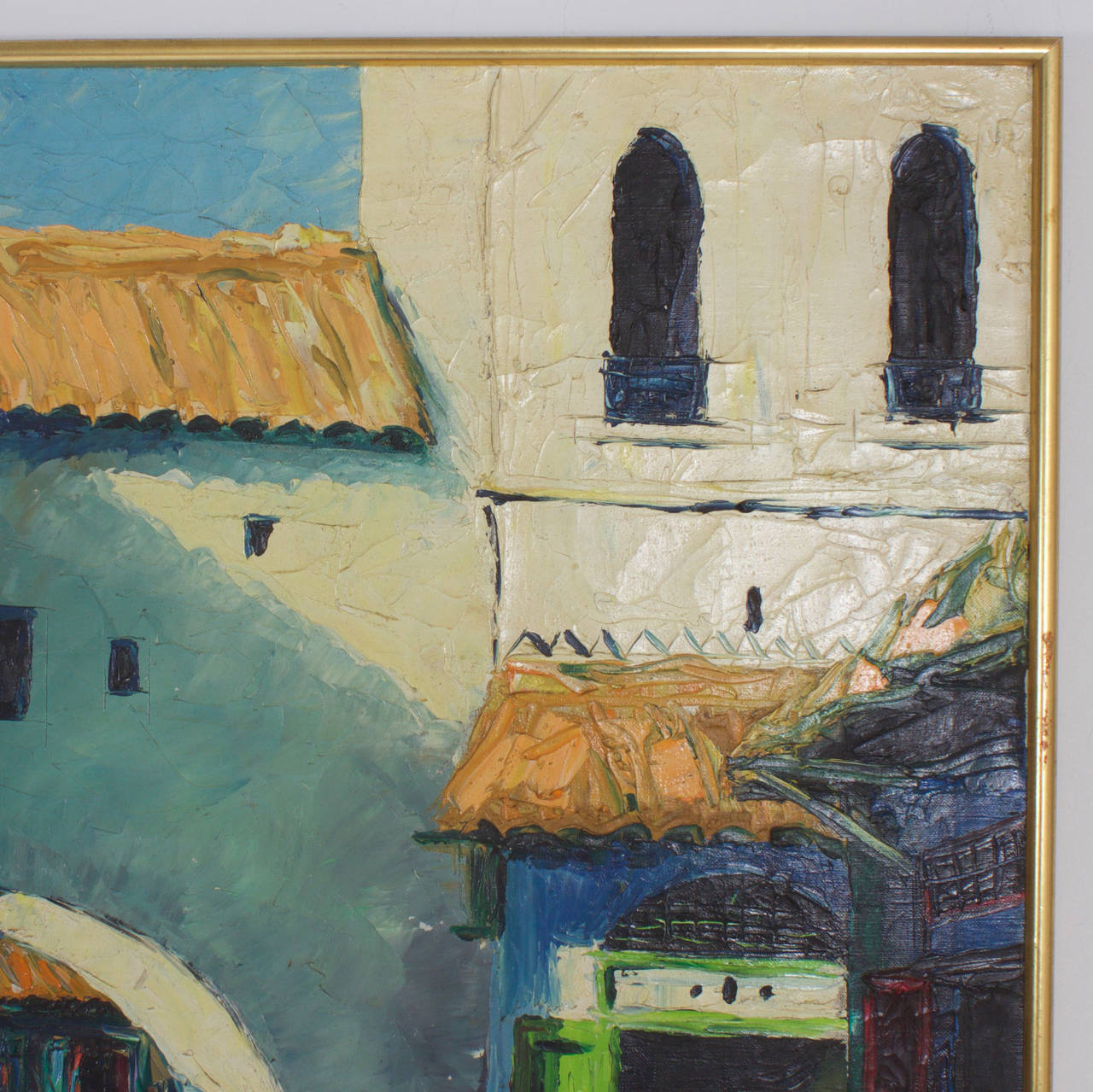 Unknown Middle Eastern Building Painting For Sale