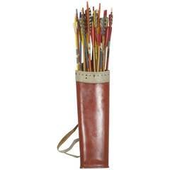 Leather Archery Set