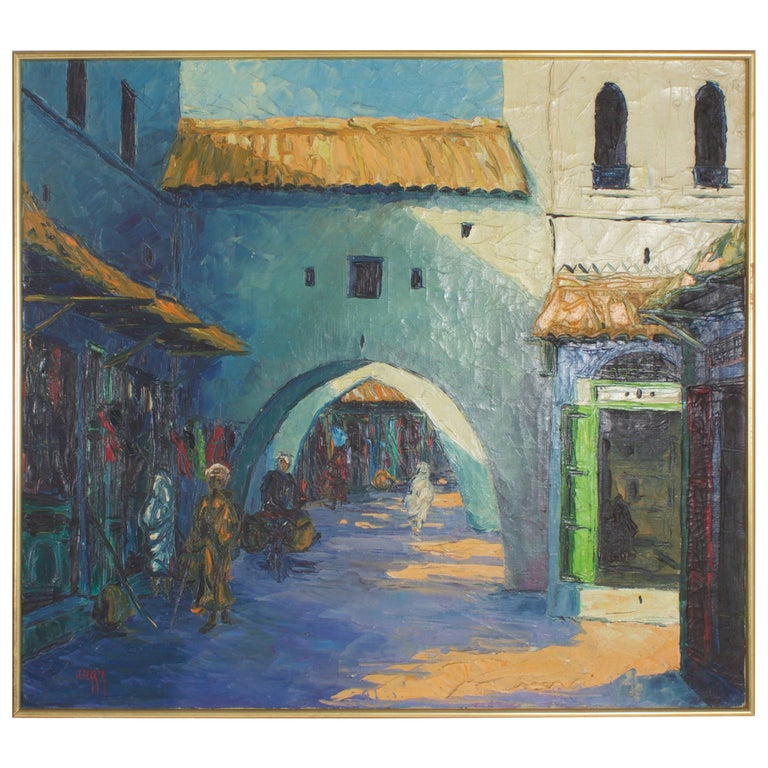 Middle Eastern Building Painting For Sale