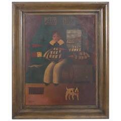 Folky Tin Painting by Lourvy