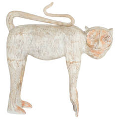Carved Wooden Monkey Sculpture