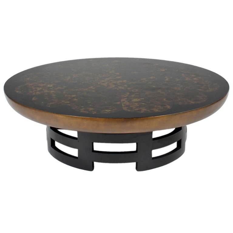 Round Low Cocktail Table By Kittenger At 1stdibs