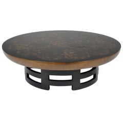 Round Low Cocktail Table by Kittenger