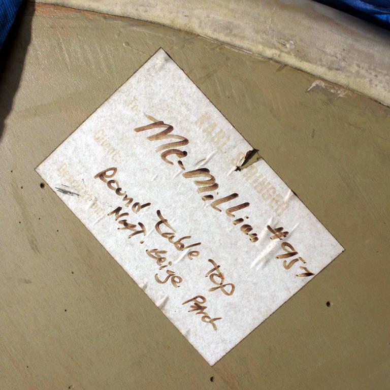 Labeled Karl Springer Lacquered Goatskin Dining Table For Sale 3