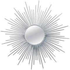 Mid-20th Century Steel Sunburst Mirror