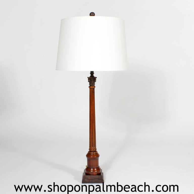 Pair of Neoclassical Lamps In Excellent Condition For Sale In Palm Beach, FL