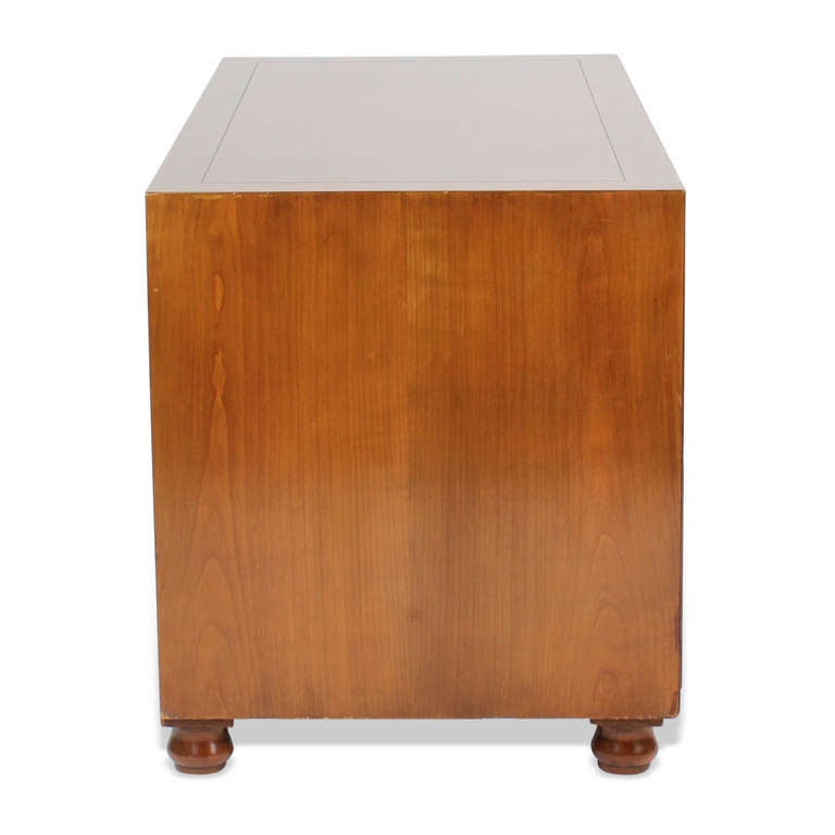 American Pair of Campaign Style Chests by Baker For Sale