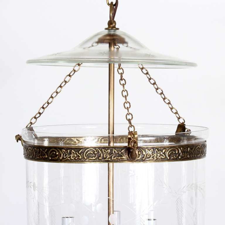 this etched glass bell jar hurricane pendant light or lantern is no. Black Bedroom Furniture Sets. Home Design Ideas