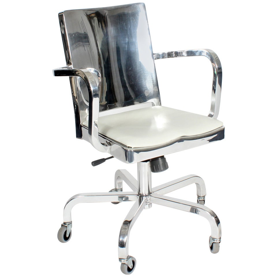 vintage emeco hudson by starck aluminum desk chair at 1stdibs
