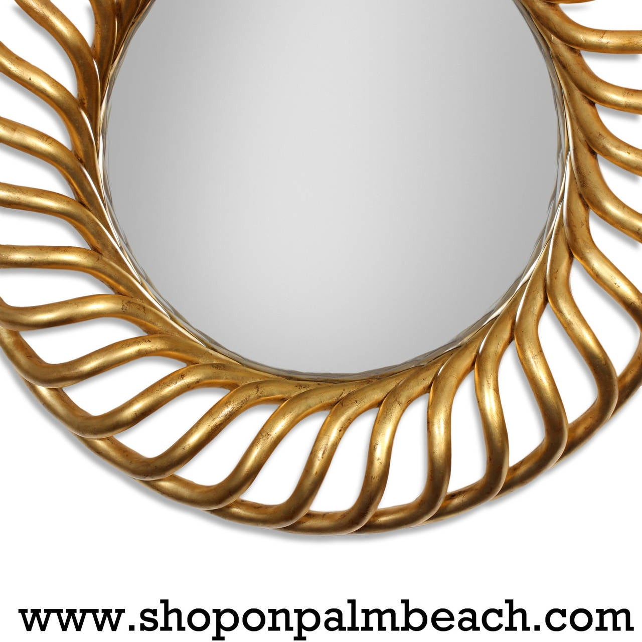 Large round gold gilt mirror for sale at 1stdibs for Big gold mirror