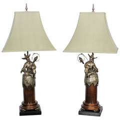 Pair of Chinoserie Style Table Lamps