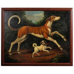 Oil on Canvas of Two Dogs by William Skilling