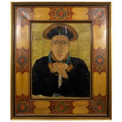 French Portrait Painting of a Mysterious Asian Gentleman