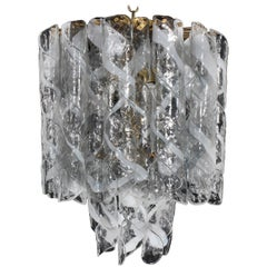 Two-Tiered Mazzega Murano Glass Chandelier