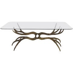 Arthur Court Cast Bronze Coffee or Cocktail Table