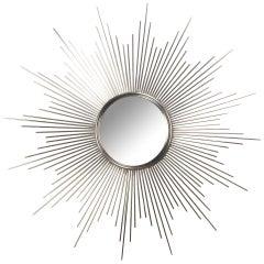 Large Stainless Steel Or Aluminum Sunburst Mirror
