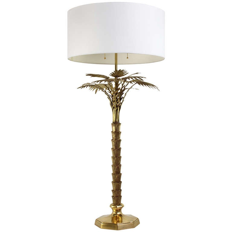brass palm tree lamp at 1stdibs. Black Bedroom Furniture Sets. Home Design Ideas