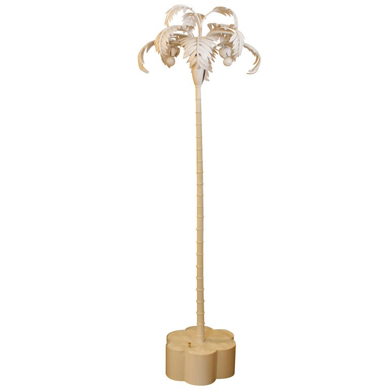 White painted palm tree standing floor lamp at 1stdibs for White painted floor lamp