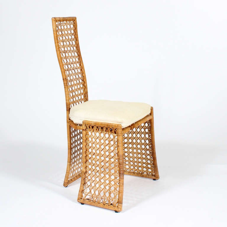 Comcane Chair Designs : Set of 6 Modern Design Cane or Wicker Side Chairs at 1stdibs