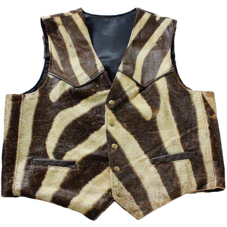 A Zebra Hide Vest At 1stdibs