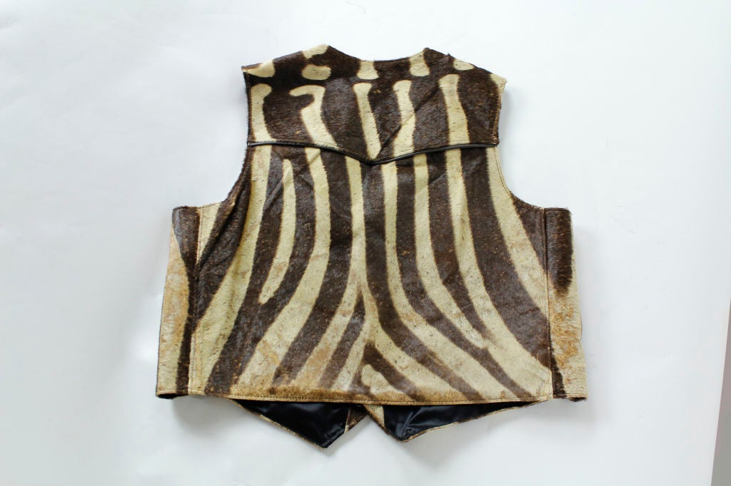 A Zebra Hide Vest At 1stdibs