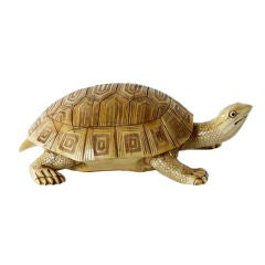 Carved Bone Turtle