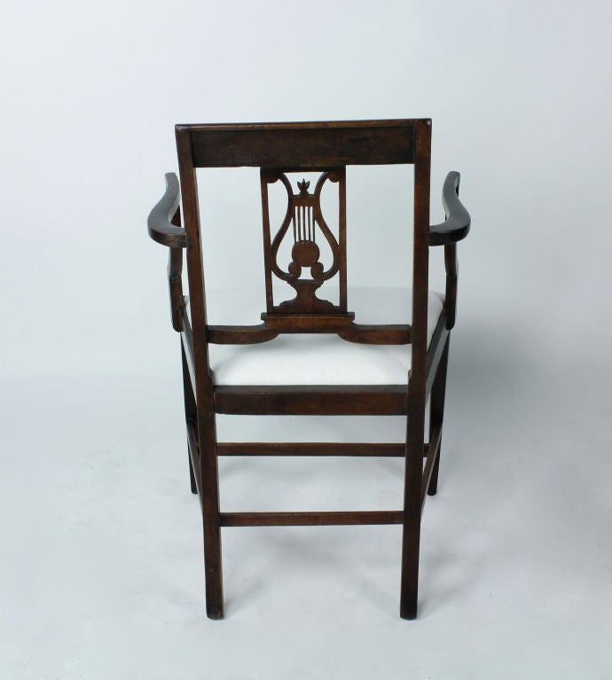 Set of Six 19th Century Neoclassical Style Armchairs For Sale 1