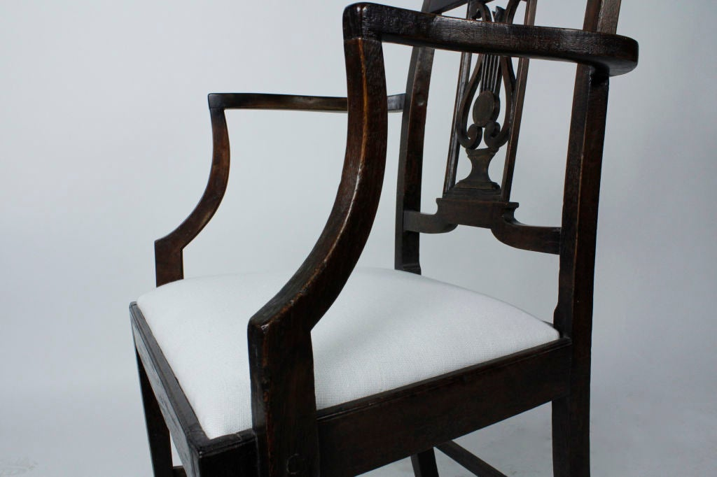 Set of Six 19th Century Neoclassical Style Armchairs For Sale 4