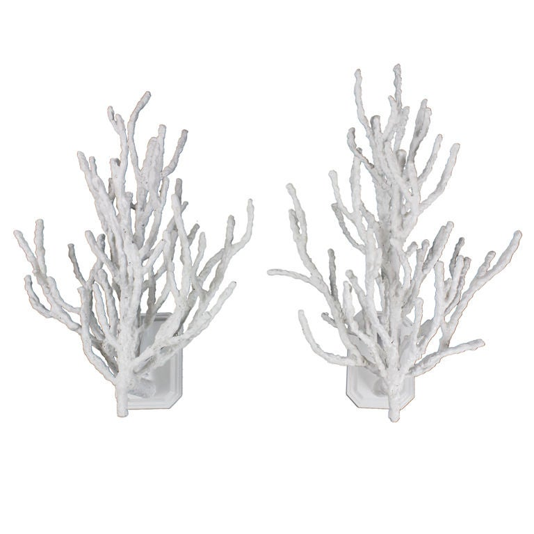 Faux Coral Wall Sconces At 1stdibs