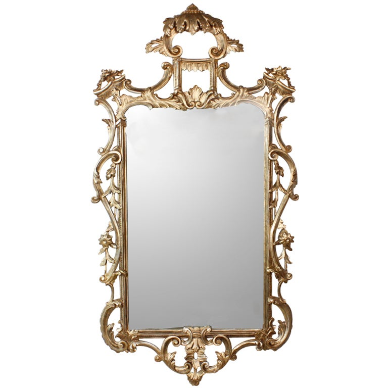 Chinese chippendale giltwood mirror for sale at 1stdibs for Asian style mirror