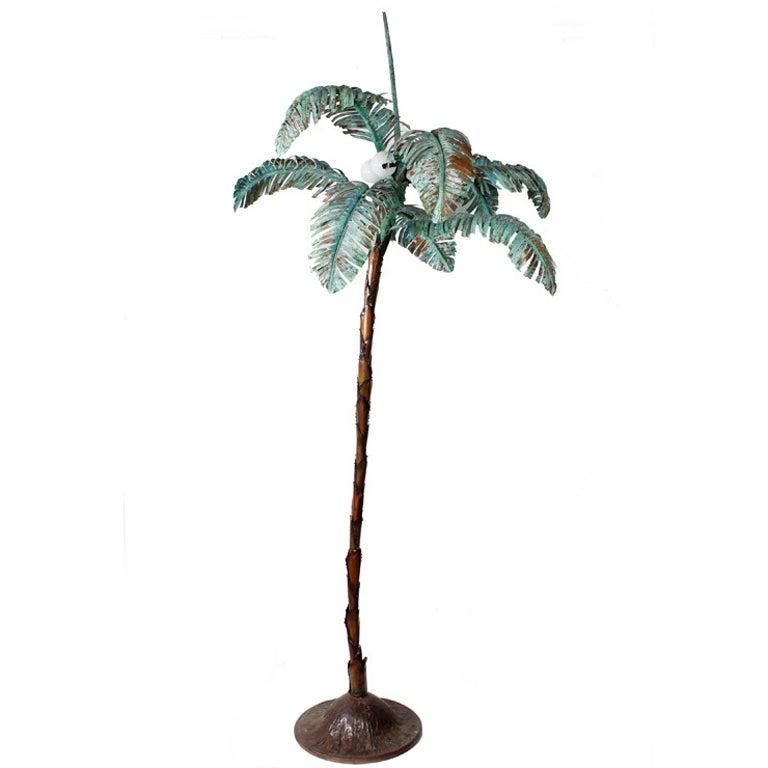 Custom Copper Palm Tree Floor Lamp At 1stdibs