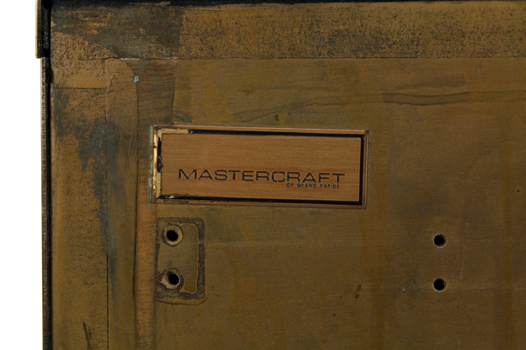 Rare Pair of Labelled Mastercraft 3 Drawer Chests or Commodes image 8