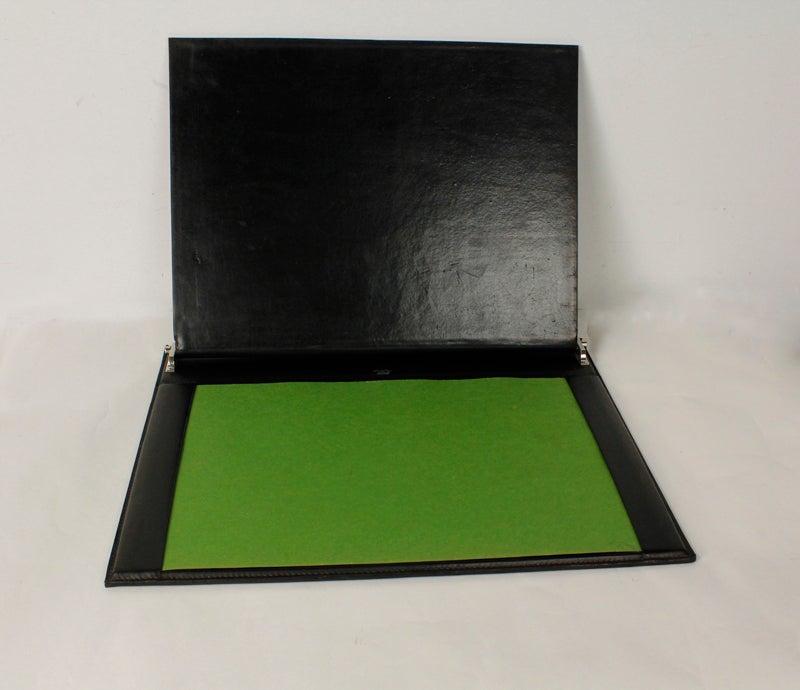 gucci zebra skin and leather desk top blotter at 1stdibs. Black Bedroom Furniture Sets. Home Design Ideas