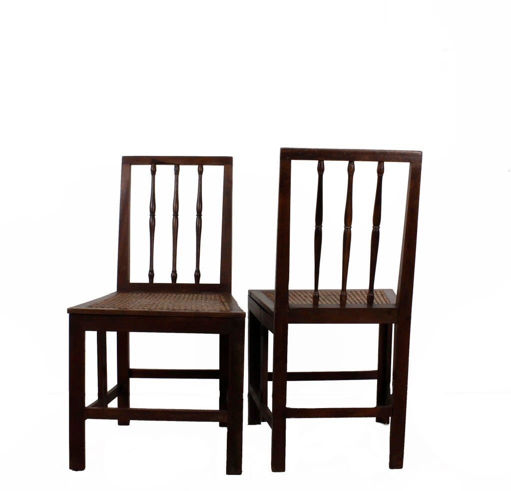 pair of early 19th century mahogany campaign side chairs at 1stdibs