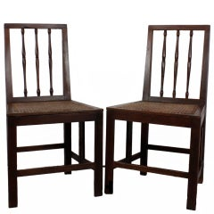 Pair of Early 19th Century Mahogany Campaign Side Chairs