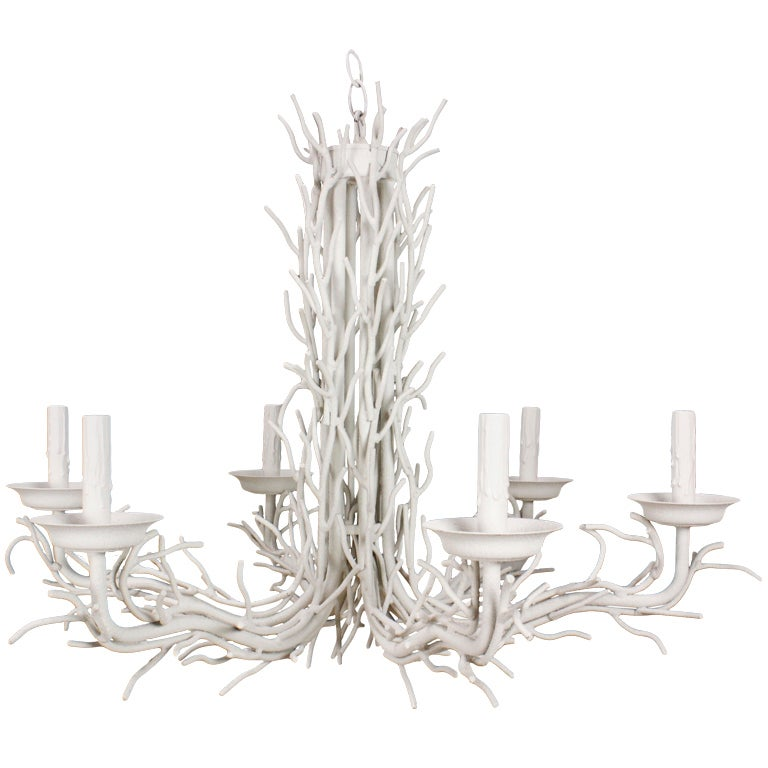 6 Arm Faux Coral Chandelier at 1stdibs – Coral Chandelier
