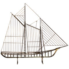 Jere Sail Boat for Wall Mount or Table Top Display