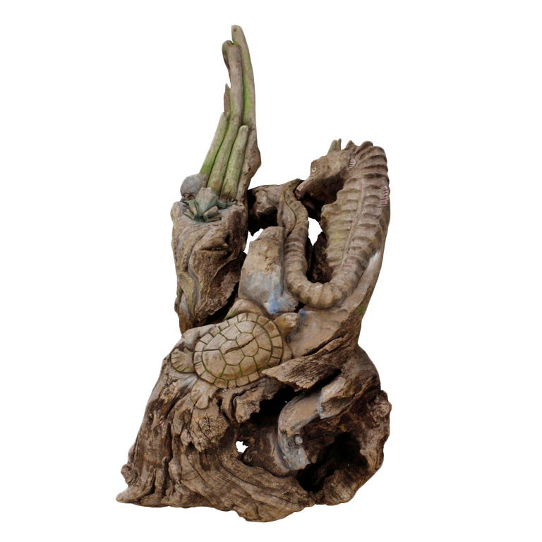 Large driftwood coral reef sculpture for sale at 1stdibs Driftwood sculptures for garden