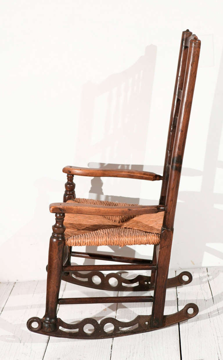 This French Spindle Back Rocking Chair with Rushed Seat is no longer ...