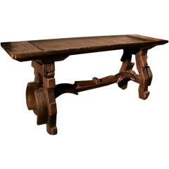 c. 1800's Spanish Wooden Ox Yoke Console Table