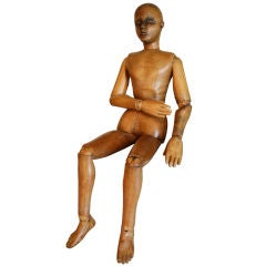 17th-18th Century Wood Artists Mannequin thumbnail 1