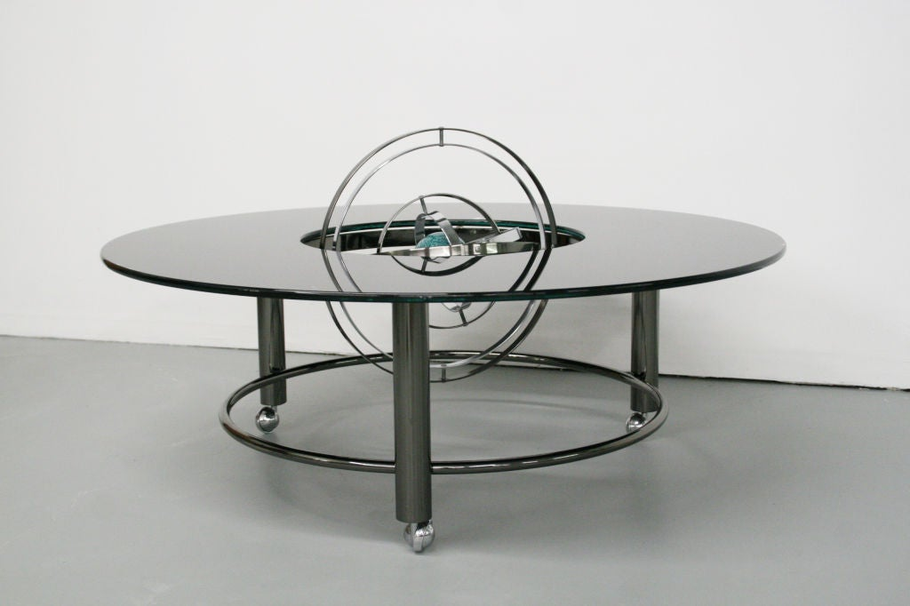 celestial spinning globe coffee table style of jay