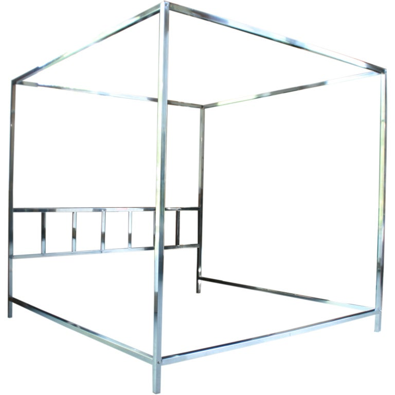 Architectural Chrome Canopy King Size Bed At 1stdibs