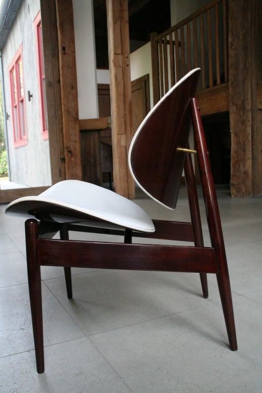 Kodawood clam shell wooden dining side chairs at 1stdibs