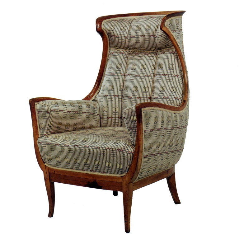 art deco wing chair at 1stdibs. Black Bedroom Furniture Sets. Home Design Ideas