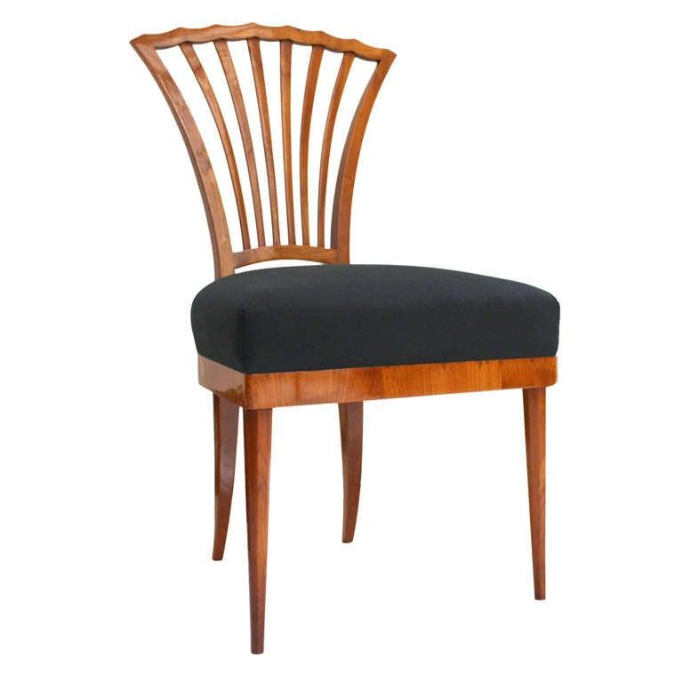 Fan Back Biedermeier Side Chair at 1stdibs