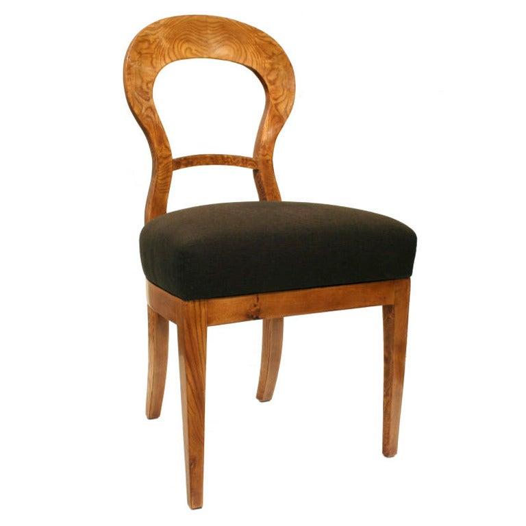 Pair Of Biedermeier Side Chairs At 1stdibs