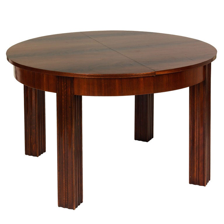 round extendable dining table by otto prutscher at 1stdibs