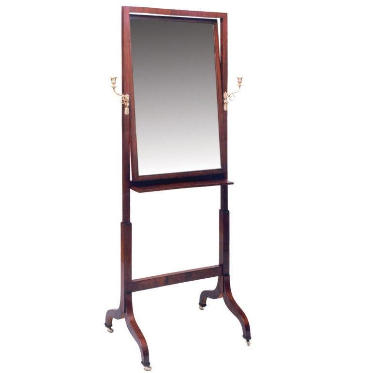 Mahogany Empire Dressing Mirror At 1Stdibs-7462